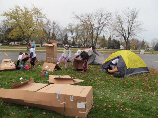 SOS box tent prep