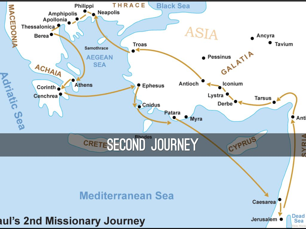 Paul's full 2nd journey map for July 15, 2018